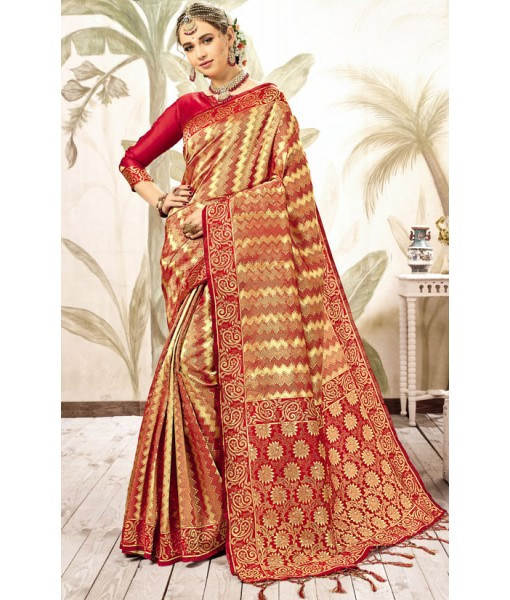 Attractive Red Kanjivaram Art Silk Saree
