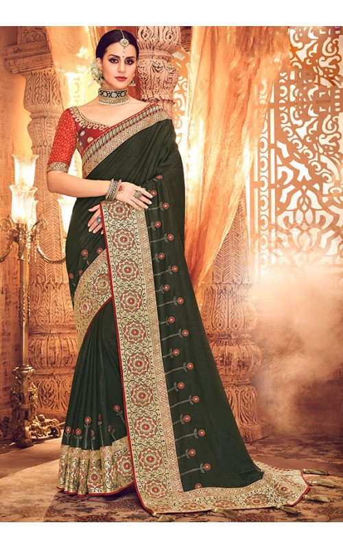Black Designer Party Wesr Saree