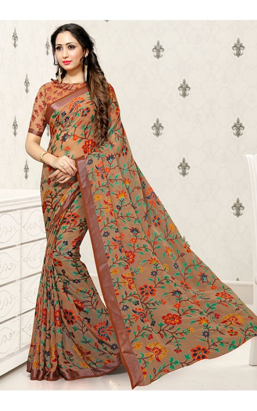 Brown Brasso Saree